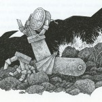 Dirk Zimmer's illustration for Hughes's book