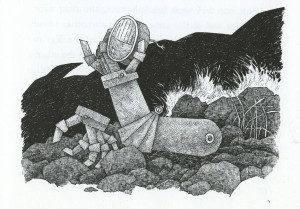 Dirk Zimmer's illustration for Hughes's book