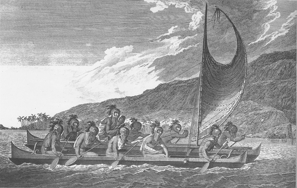 Priests_traveling_across_kealakekua_bay_for_first_contact_rituals
