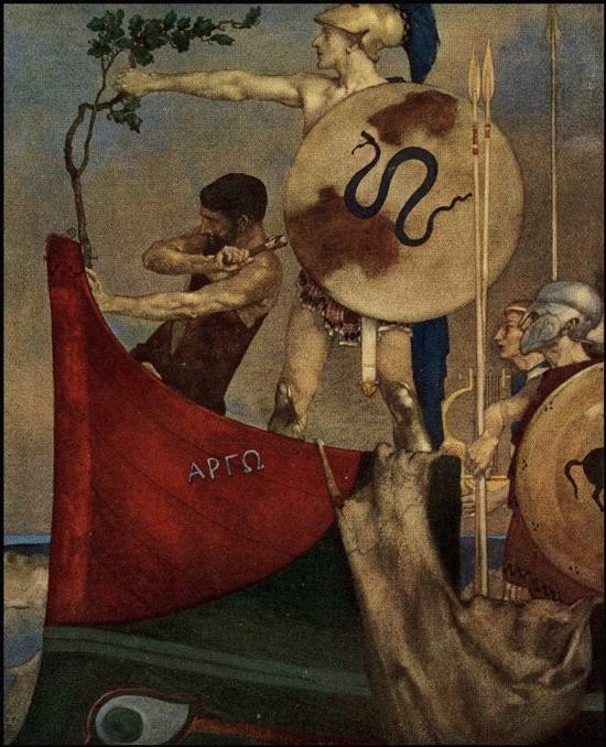 <em>The Heroes</em>, 1912 illustration by William Russell Flint