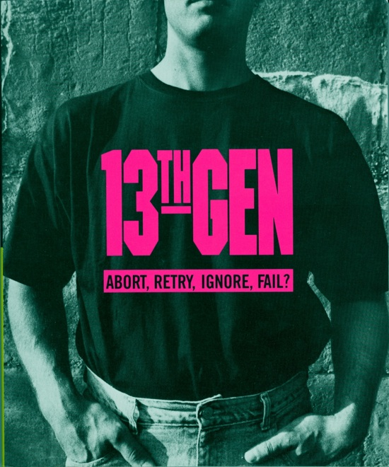 Howe and Strauss's Gen X book