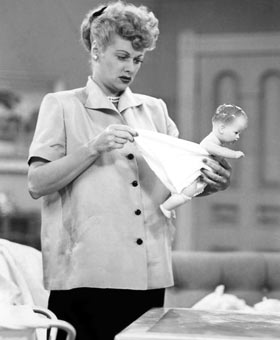 "Lucille Ball... ""expecting"""