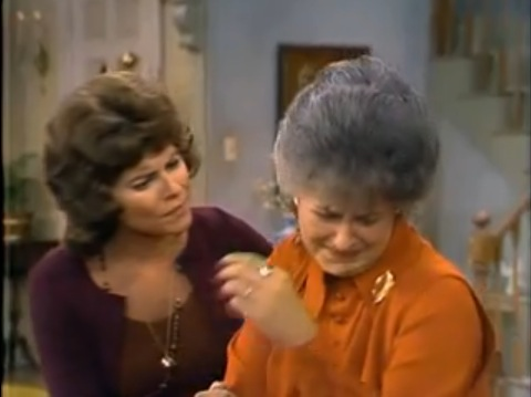 "A scene from the two-part <em>Maude</em> episode, ""Maude's Dilemma"""