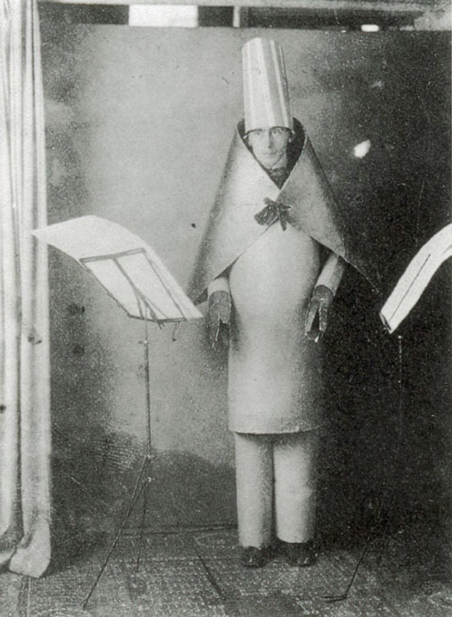 Hugo Ball at the Cabaret Voltaire, 1917