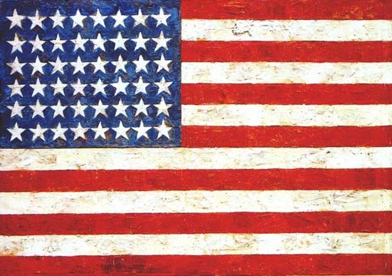 """Jasper Johns's """"Flag,"""" 1954"""