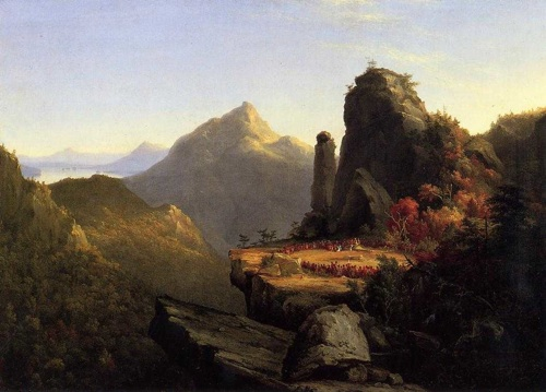 Thomas Cole painting of scene from The Last of the Mohicans, by James Fenimore Cooper