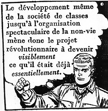 A comic strip détourned by the Situationists