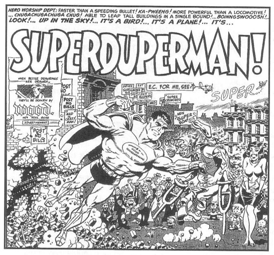 Wally Wood's take on Superman