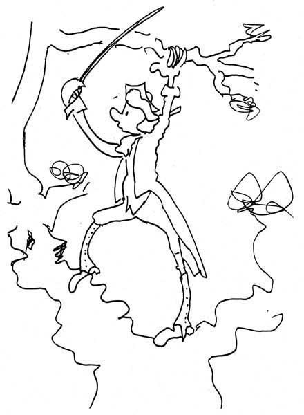 A doodle of the Baron, by Calvino
