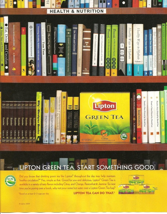 Lipton ad from November 09 issue of <em>Real Simple</em>