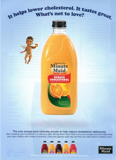 Minute Maid ad from <em>Family Circle</em>, 10/17/08