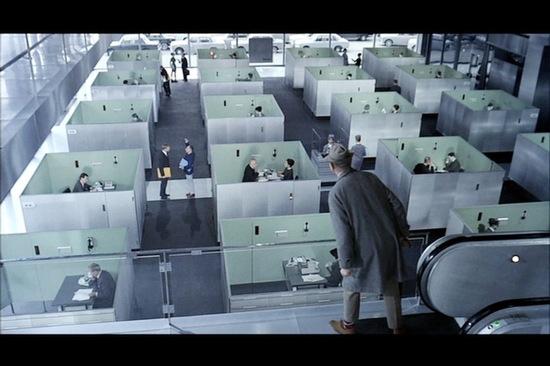A scene from Jacques Tati's <em>Playtime</em>