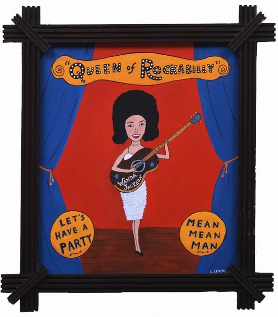 <em>Wanda Jackson</em>, painting by Laura Levine from her book <em>Shake, Rattle & Roll: The Founders of Rock & Roll</em>