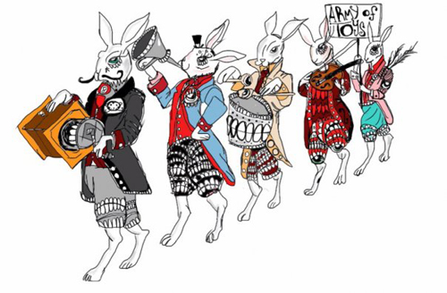 """the Rabbit Army"" WSInkDrip 10/31/2009 by Walter Sickert"
