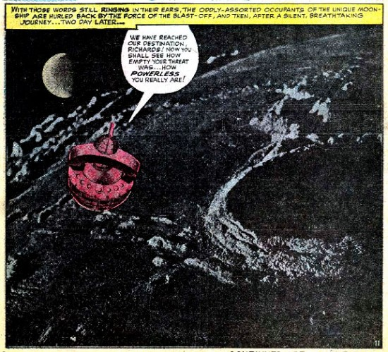 A Kirby photomontage from Fantastic Four no. 29 (August 1964)