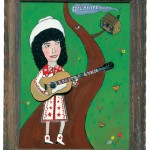"""Loretta Lynn, painting by Laura Levine from her book """"Honky-Tonk Heroes and Hillbilly Angels: The Pioneers of Country & Western Music."""""""