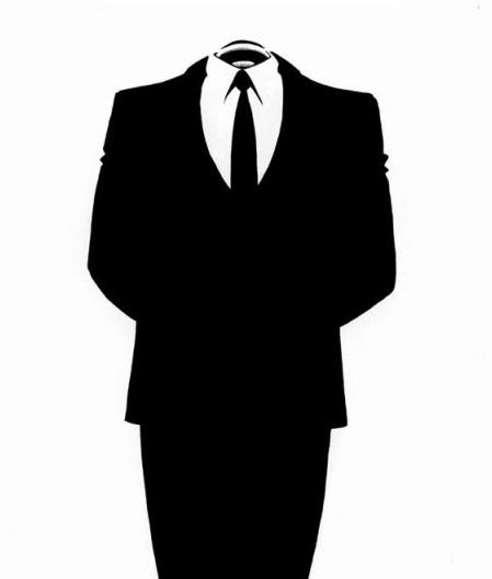 anonymous man suit - photo #38