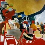"R. B. Kitaj, ""The Autumn of Central Paris (after Walter Benjamin)"", 1972 - 3"