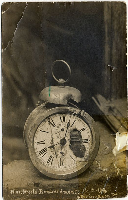 damaged clock