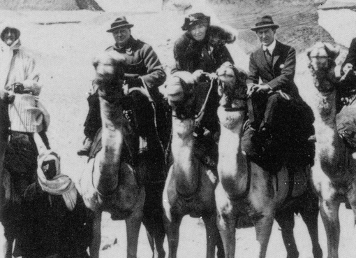 From left: Winston Churchill, Gertrude Bell, T.E. Lawrence