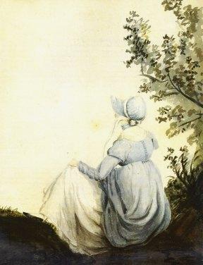 1804 watercolor of Jane Austen by her sister Cassandra