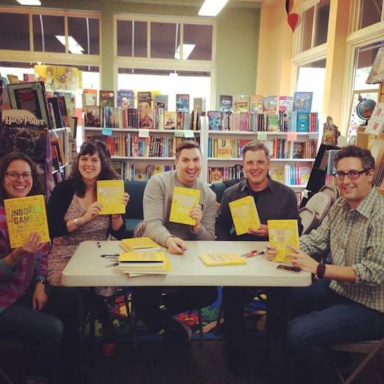 From left: Catherine Newman (contributor), Heather Kasunick and Chris Piascik (illustrators), Tony Leone (designer and art director), Joshua Glenn (co-author). Not pictured: Elizabeth Foy Larsen (co-author), Mister Reusch (illustrator), other contributors.