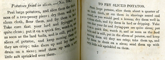 The 1818 Kitchiner recipe is on the left.
