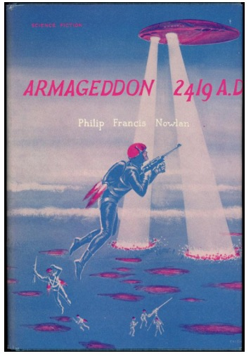 1962 edition shown here —we'd show the cover of AMAZING STORIES in which this novella first appeared, but that cover illustrates SKYLARK OF SPACE.