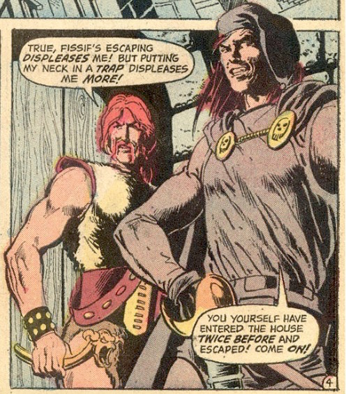 Sword of Sorcery #2 (February 1973), featuring Denny O'Neil and Howard Chaykin's adaptation of Fritz Leiber's Thieves' House