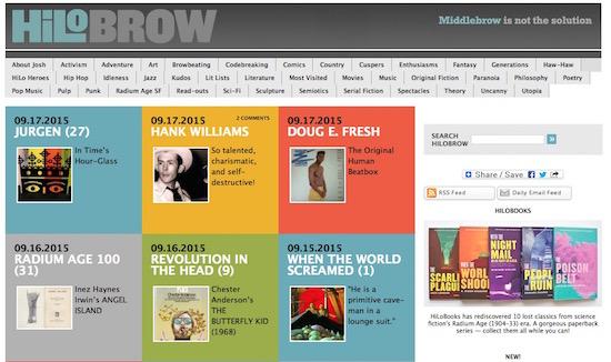 hilobrow homepage 9-17-15
