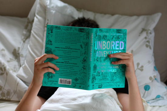 Birdy reads UNBORED ADVENTURE