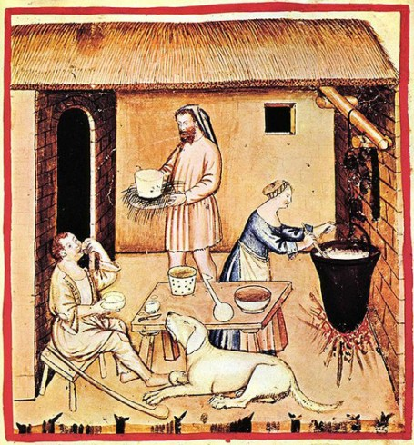 Ricotta making in the 13th century