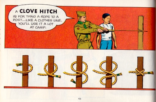 How Scout Book clove hitch