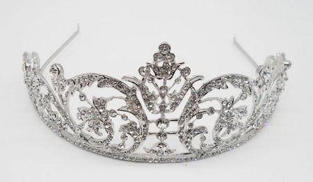 Gorgeous-Sparkling-Silver-Plated-Austrian-Crystal-Big-Wedding-Diamante-Crown-Hairband-Bridal-font-b-Tiara-b