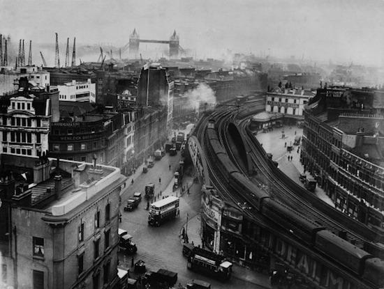 London Bridge Station In London On 1927