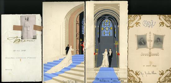 l to r: 1st Communion, 1946, 2 weddings ca. 1940s, 1899 wedding