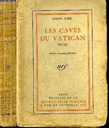 81728dee0 André Gide's picaresque Les caves du Vatican (in English: Lafcadio's  Adventures, The Vatican Catacombs, other titles). Gide described this  antic, ...